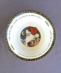 Portmeirion CHRISTMAS STORY All Purpose 5 Cereal Bowls And Away They ...