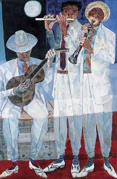 by Candido Portinari (Brazilian 1903-1962) Arte Jazz, Jazz Art, Art And Illustration, Figure Painting, Painting & Drawing, South American Art, Art Music, Love Art, Creative Art