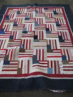 Flag quilt: would work in other colors too.