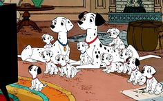 101 Dalmatians OMG the cutest pups and such a story!