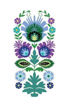 'Polish Folk Flowers Light Blue on Black' iPhone Case by Barbara Pixton Watercolor Painting Techniques, Dot Painting, Doodle Art Journals, Art Journal Pages, Folk Art Flowers, Flower Art, Quilling, German Folk, Polish Folk Art