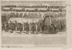 The funeral procession of Louis de France, duc de Bourgogne and his wife, Marie-Adelaide de Savoie, 1712