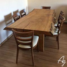 Sala de jantar com cara nova 🔝🌿 😍  Com nossa mesa em madeira maciça!!!