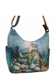 Anuschka Bags HAND PAINTED Hobo w/Side Pockets 433LMM Womens, $193.00