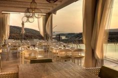 Salvator Villas & Spa Hotel- A Luxurious Resort in Parga, Greece Outdoor Restaurant, Restaurant Lounge, Spa Hotel, Hotels, Environmental Design, Travel And Leisure, Boutique, Greece, Dining Table