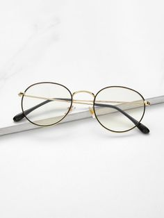 To find out about the Metal Frame Glasses at SHEIN, part of our latest Sunglasses ready to shop online today! Round Lens Sunglasses, Cute Sunglasses, Sunglasses Accessories, Sunglasses Women, Women Accessories, Fashion Accessories, Glasses Frames Trendy, Hipster Glasses, Fake Glasses