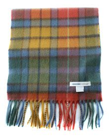 Johnstons Cashmere Scarf: Antique Buchanan