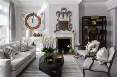 Located just off of the Kings Road @katharinepooleyltd  London townhouse schools in the art of multitasking chic. Despite not having made any structural changes (yet!) in the two years shes owned the property the designer has made the most of the residence. Click the link in our bio to discover the designers execution of a serene grey palette.   #luxdeco #katharinepooleyltd #katharinepooley #london #townhouse #kingsroad #grey #interiordesign #interiorinspo #luxury #luxuryinteriors
