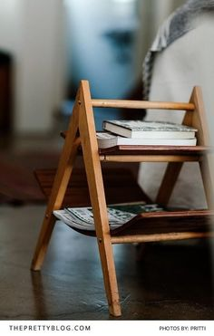 A Simple and Small Wooden Book Rack for your Living Room | Photography by Pritti