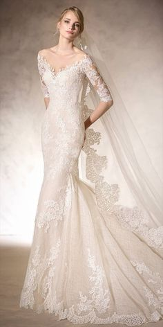 La Sposa 2017 – mid sleeves mermaid wedding dress with lace embroidery and sex… La Sposa 2017 – Meerjungfrau Brautkleid mit Spitzenstickerei und Sexy La Sposa Wedding Dresses, Wedding Dress Prices, Wedding Dress With Veil, Bridal Dresses, Lace Wedding, Dresses Dresses, Flattering Wedding Dress, The Dress, Dress Long