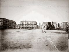 Piazza Vittorio Emanuele II ca) Best Cities In Europe, Santa Maria, Old Photos, Rome, Louvre, Street View, Italy, History, World