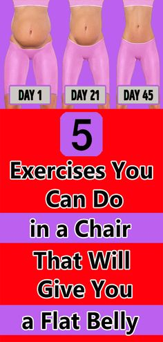 5 Exercises You Can Do in a Chair That Will Give You a Flat Belly Health And Fitness Tips, Health And Wellness, Best Skincare Products, Cardiovascular Disease, Flat Belly, Physical Fitness, Excercise, Healthy Tips, Natural Health
