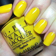 canary yellow nails - gorgeous