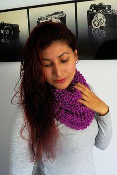 Ingenio DIY: Como hacer una bufanda estilo malla abultada