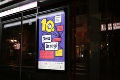 "Visual Language through Typography: ""Dwa Brzegi"" – 10th Film and Art Festival | HeyDesign Graphic Design & Typography Inspiration"