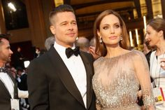 Brad and Angelina at Oscars - March 2014