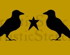Crow stencil | Etsy