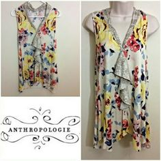 Floral Anthropologie top Q116 Anthropologie Tops Tank Tops