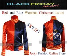Red and Blue #Christmas #Jacket for #Women as outstanding creation of our #onlinestore Jacky Fashion #Thanksgiving & #BlackFridayDeal Discounted Offer .  #womenfashion #womenoutfit #femalefashion #clothing #outfit #celebs #celebrities #heros #usafashion #usastyle #amazing #cosplay #amazon #girlsfashion #fashion #FashionBlog #FashionBlogging #FashionKids #Stylish #entertainment #streetwear