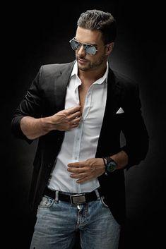 Men Formal, Formal Wear, Arab Men, Casual Wear For Men, Hair And Beard Styles, Bearded Men, Dapper, Male Models, Sexy Men