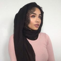 You know I got the sauce, you know I'm saucy ⓓ Muslim Fashion, Hijab Fashion, Scarf Hairstyles, Braided Hairstyles, Modest Outfits, New Outfits, Braid Styles, Hijab Styles, Hijab Turban Style