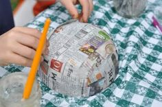Friday Craft: Paper Mache Bowls  1/2 cup white flour  2 1/2 cups water  1 Tbsp salt