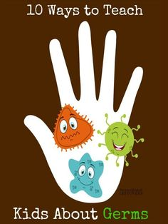 10 Ways to Teach Kids About Germs- Teaching kids about germs doesn& have to. 10 Ways to Teach Kids About Germs- Teaching kids about germs doesn& have to be difficult. Here are 10 ways to teach them so they can stay healthy and safe. Health Lesson Plans, Health Lessons, Hygiene Lessons, Kids Crafts, Preschool Crafts, Health Activities, Activities For Kids, Healthy Kids, How To Stay Healthy