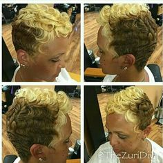👊👊👊💖 Short Relaxed Hairstyles, Classy Hairstyles, Amazing Hairstyles, Natural Hairstyles, Funky Short Hair, Short Hair Cuts, Short Curls, Short Bangs, Short Pixie