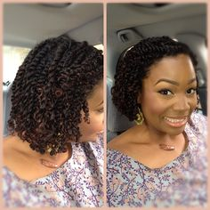 These twists rock! To learn how to grow your hair longer click here -    kinky twists, marley hair, braid hairstyles http://www.shorthaircutsforblackwomen.com/bentonite-clay-for-hair/