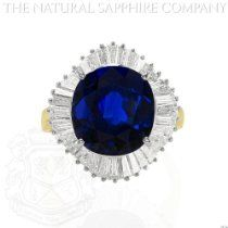 Exquisite engagement ring - 18K Yellow and White Gold Ballerina Ring with Center Cushion Sapphire and Baguette Diamonds.   Price: 	$26,130.00  http://astore.amazon.com/greabengagementring-20/detail/B00I0ST9VU