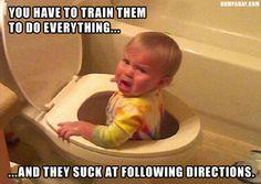 1 kid is stuck in toilet, do not have kids