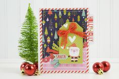 Bella Blvd Holly Jolly Christmas collection. Santa card by creative team member Becki Adams.