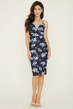 b30dd861c49 Forever 21 Sarah LA NWT Floral Knee Length Bodycon Dress