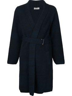 Maison Ullens belted warp cardi-coat