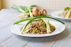 The Midnight Baker: Barley Risotto with Leeks and Mushrooms