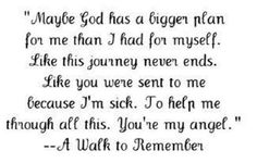 A Walk to Remember #Movie #Quote ~ www.OnlineMovieQuotes.com ~ ~ www.OnlineMovieQuotes.com ~