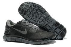 $54.29   Mens Nike Free 4.0 V2 Black Cool Grey Shoes