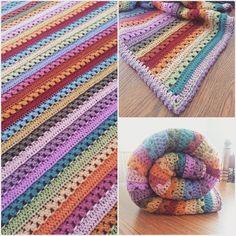 jenjendb crochet striped blanket