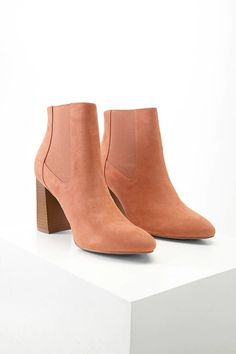 Faux Suede Chelsea Ankle Boots
