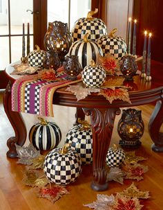 What we've all been waiting for! Courtly Check (and Courtly Stripe) Pumpkins, available in three sizes!