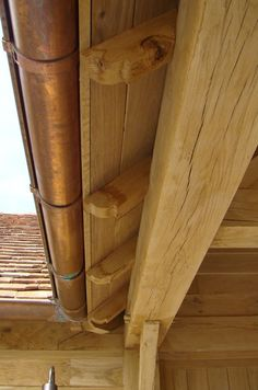 Timber Garage, Timber Roof, Cabin Design, House Design, Big Green Egg Outdoor Kitchen, Building Design, Building A House, Cottage Extension, Wood Store