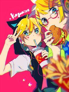 Vocaloid: Kagamine Len y Rin Hatsune Miku, Kaito, Rin E Len, Kagamine Rin And Len, Anime Style, Manga Anime, Anime Art, Vocaloid Characters, Mikuo