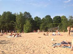 Pyynikki beach, Lake Pyhäjärvi, Tampere, Finland Cities In Finland, Summer Fun, Dolores Park, Photo And Video, History, City, Beach, Travel, Historia