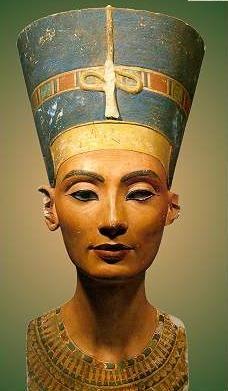 Queen Nefertiti c. 1345 B.C.E. Painted limestone, height 20''