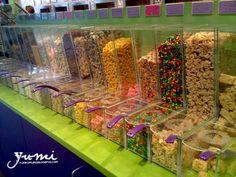 Yogurt Mountain toppings bar :)