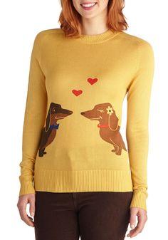 Wiener Takes It All Sweater, #ModCloth