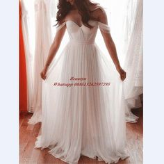 Pas cher Pas cher Long Blanc de Demoiselle D'honneur Robes Avec Manches Encolure…