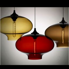 Blown glass for over the breakfast nook.