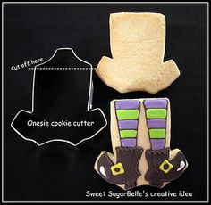 Witchy Leggs cookie favor...if I can learn to ice the cookies like this, I can use my football jersey cookie cutter