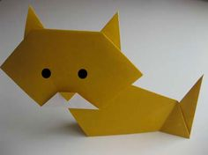 Easy origami instructions (Cat) Crookshanks for the older kids JK Rowling week Wizarding companions at Hogwarts